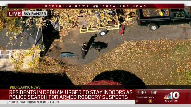 [BOS] Dedham Residents Warned Amid Armed Robbery Manhunt