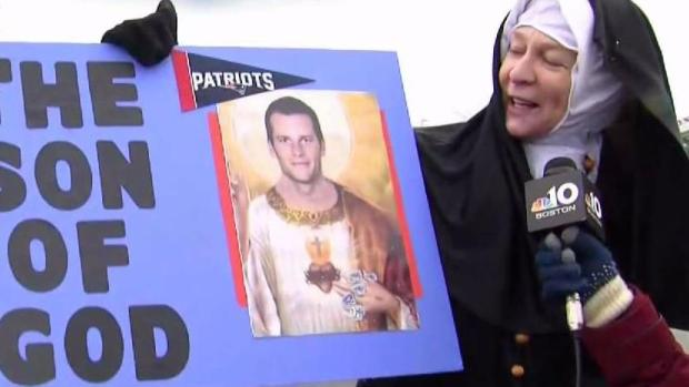 [NECN]Divine Intervention? Nun Attends Patriots Rally