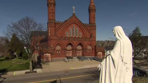 [NECN] Dorchester Police Investigate Church Statue Vandalism