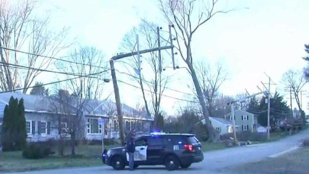 [NECN] Downed Trees and Wires Cause Power Outages
