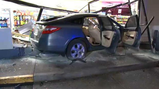 [NECN] Driver Hurt After Car Crashes Into Brockton Building