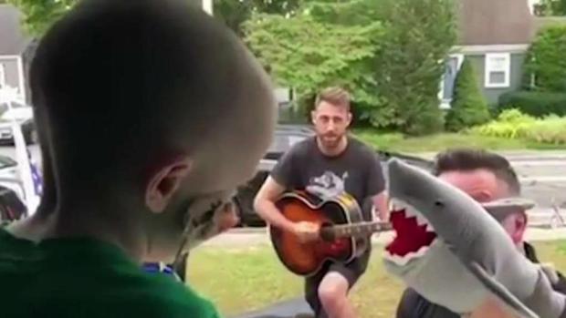 [NECN] Dropkick Murphys Entertain Boy Who Can't Go Outside