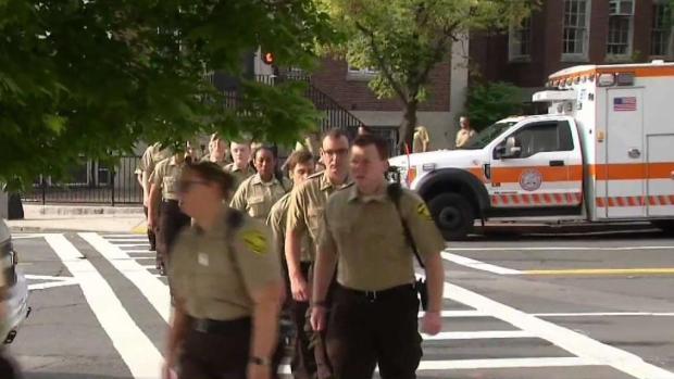 [NECN] EMTs Pack Boston Courthouse for Suspect Stabber's Appearance