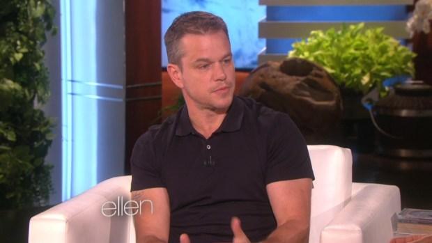 'Ellen': Damon Clarifies Comments About Sexuality