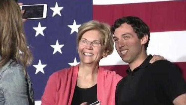 [NATL NECN] 'It's Like a Rollercoaster': Inside Sen. Warren's Selfie Line