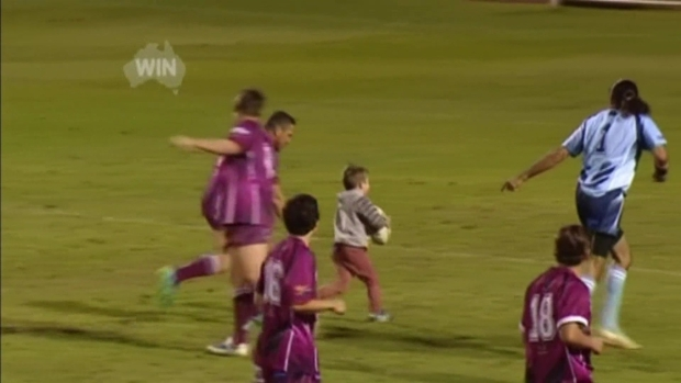 4-Year-Old Accidentally Joins Rugby Game, Scores