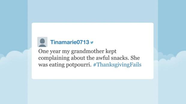 [NATL] 'Tonight' Hashtags: #ThanksgivingFails