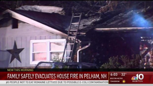[NECN] Fire Burns Through NH Fire Chief's Home