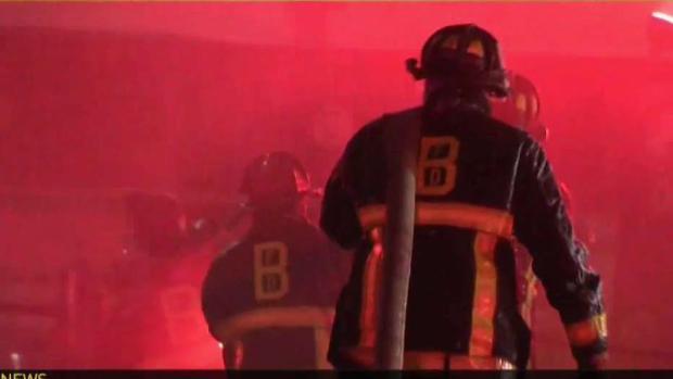 [NECN] Fire Officials Investigate Cause of Six-Alarm Blaze