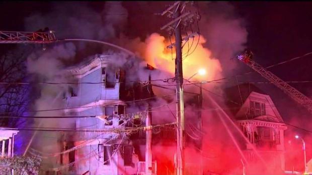 [NECN] Fire Ravages Dorchester 3-Family, 14 Left Homeless