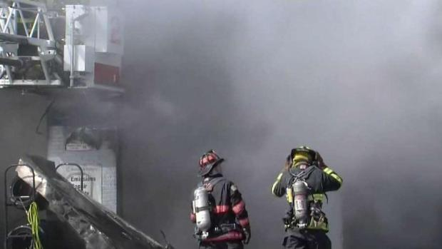[NECN] Fire Rips Through Leominster Gas Station