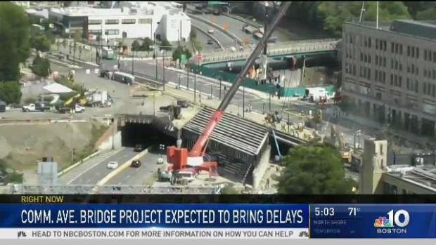 [NECN] First Full Day of Traffic With Comm. Ave. Bridge Work