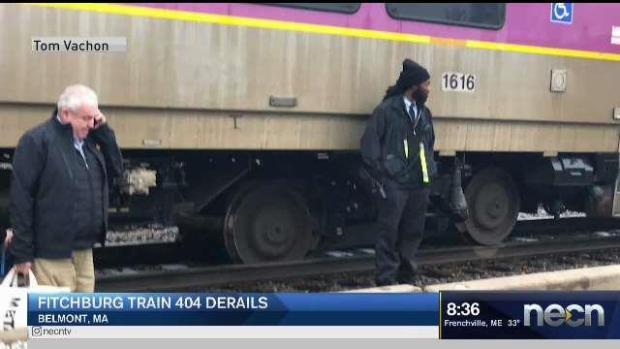 [NECN] Fitchburg Train 404 Derails in Belmont