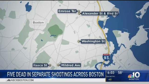 [NECN] Five Dead in Separate Shootings in Boston