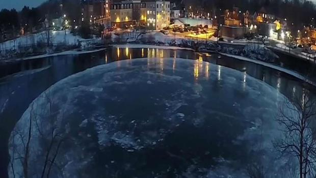 [NECN] Floating Ice Disk in Maine Used to Study Arctic Sea Ice