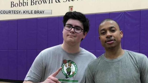 [NECN] Former Celtics Star Plays Pickup Game With Emerson Students