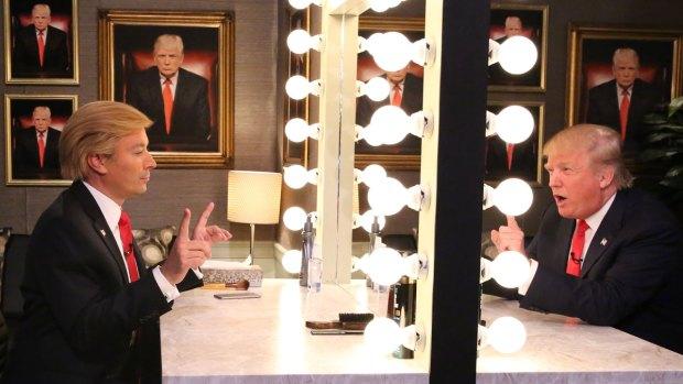 'Tonight': Trump Interviews Himself In the Mirror
