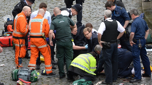 Aftermath of attack on Westminster Bridge