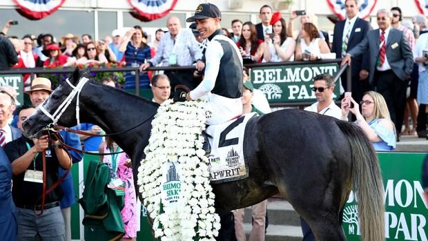 [NATL]Tapwrit Overtakes Race Favorite Irish War Cry at 2017 Belmont Stakes