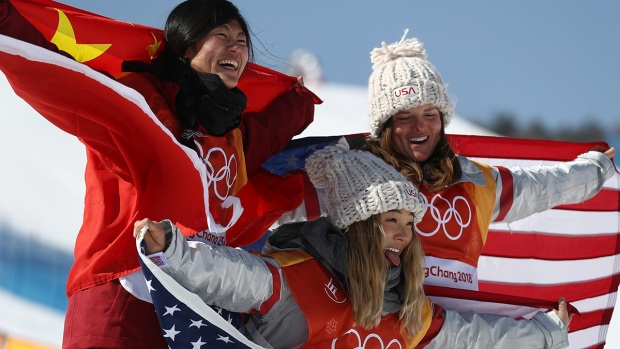 [NATL] Feb. 13 Olympics in Photos: US Takes Gold in Halfpipe, Skiing Wipeouts