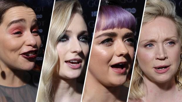[NATL] 'Game of Thrones' Stars Walk Red Carpet of Final Season Premiere
