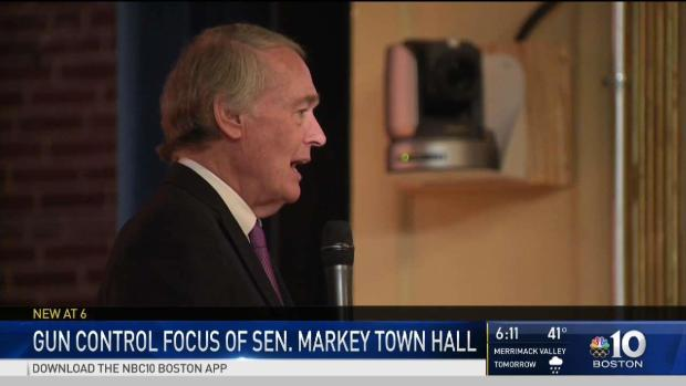 [NECN] Gun Control Focus of Sen. Markey Town Hall