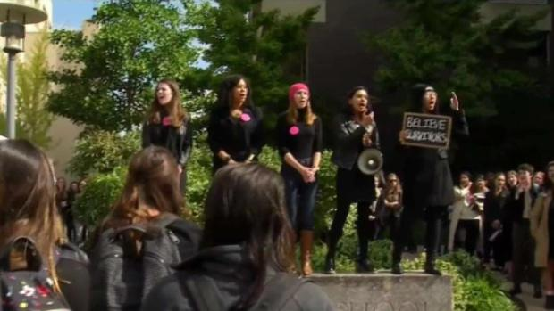 [NECN] Harvard Law Students Rally Against Kavanaugh