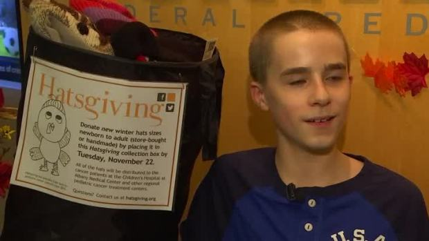 [NATL] 'Hatsgiving' Collects Hats for Cancer Patients