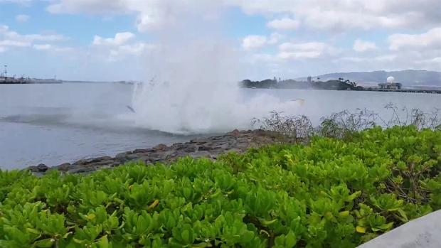 WATCH: Helicopter Crashes Into Water in Pearl Harbor