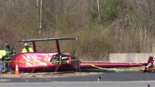 [NECN] Helicopter Makes Hard Landing at Airport in Taunton