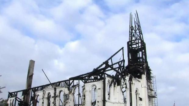 [NECN] Historic Wakefield Church Destroyed in Fire