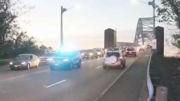 [NECN] Hit-and-Run Crash on the Sagamore Bridge