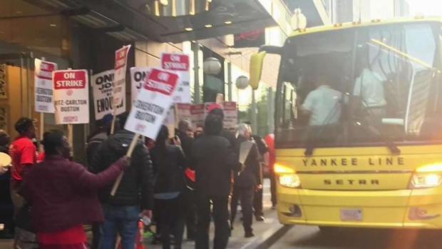 [NECN] Hotel Workers Upset Yankees Crossed Picket Lines