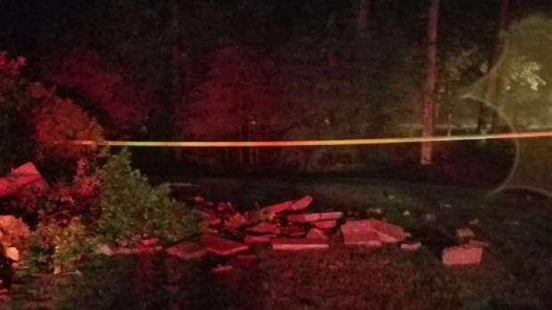 House Damaged by Possible Lightning Strike