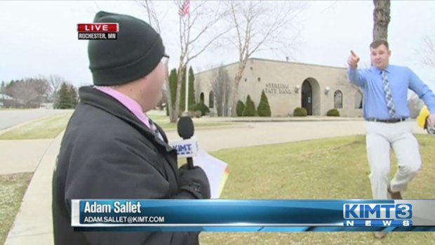 TV Station Rolling Live as Bank is Robbed Second Time