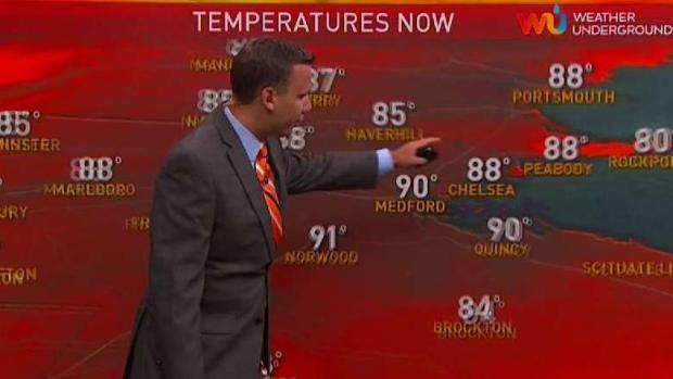 [NECN] It's Going to Stay Hot Around Boston This Week