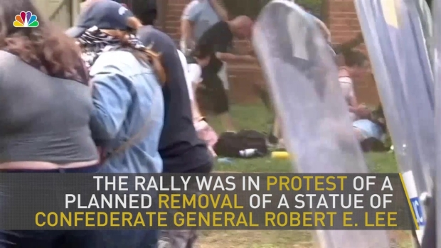 Monuments removed following violent racist protest