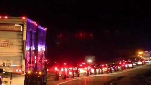 [NECN] Lanes Blocked on Interstate 495 After Pedestrian Crash