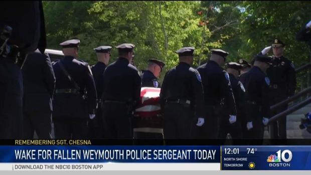 [NECN] Large Turnout Expected for Services of Slain Police Sgt