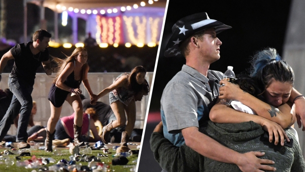 Videos show moments horrifying massacre unfolded at Las Vegas country concert