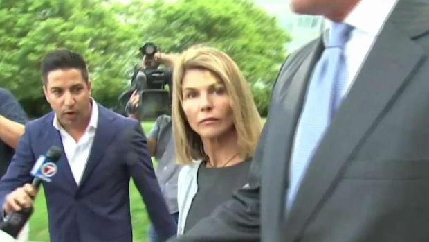 [NECN] Lori Loughlin and Husband Questioned at Hearing