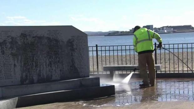 [NECN] Police: Cleanup of WWII Memorial Vandalism Difficult