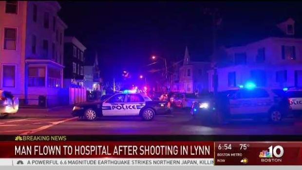 [NECN] Man Flown to Hospital Following Shooting in Lynn
