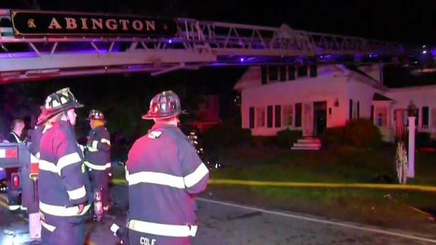 [NECN] Man Hurt in Abington House Fire