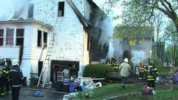 [NECN] Man Killed in Newton House Fire