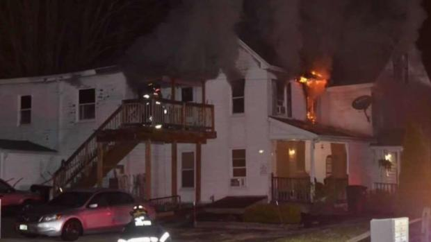 [NECN] Man Rescued From NH Fire Believed to Have Set Blaze