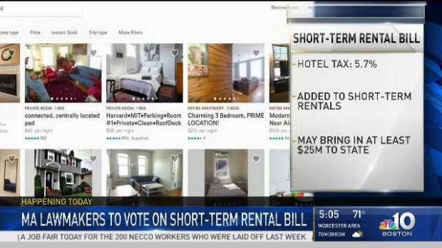 [NECN] Mass. Lawmakers to Vote on Short Term Rental Bill