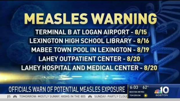 [NECN] Mass. Officials Warn of Measles Exposure