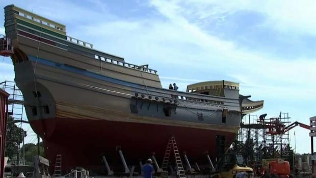 [NECN] Uniquely New England: Mayflower II's Restoration Nears Completion