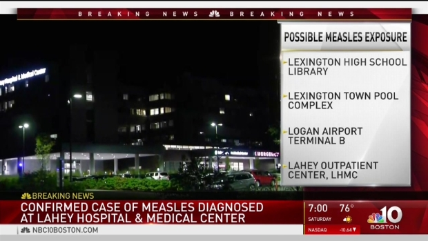 [NECN] Measles Warning at Lahey Hospital